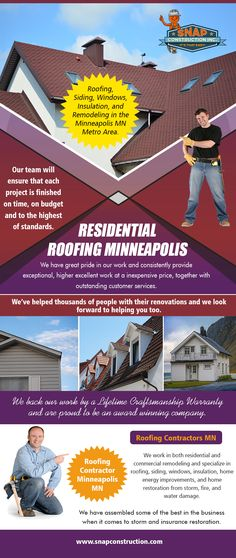 Snap Construction - Affordable Roofing Contractor Minneapolis - The True Craftsmanship. Affordable Roofing, Residential Roofing, Roofing Contractors, Minneapolis, Insulation, Budgeting, Construction, Building, Thermal Insulation