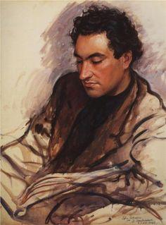 Zinaida Serebriakova (1884 - 1967) | Portrait of E. Shapiro