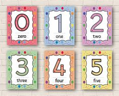 This resource is a highly design package with 120 pages. Those posters from number 0 to 5  are an excellent refence for kids to practice numbers, number word and tracing number direction.