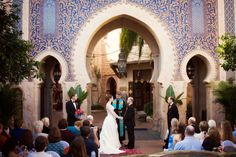 Disney Fairy Tale Wedding ceremony at Epcot's Morocco Pavilion