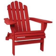 Adirondack Red Chair | Recycled Plastic | Very comfy, for indoor use