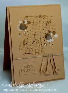 Stampin' Up! ... handcrafted card ... Simply One Of A Kind: Sketch Time ... kraft ... grunge on a grid ... like it!