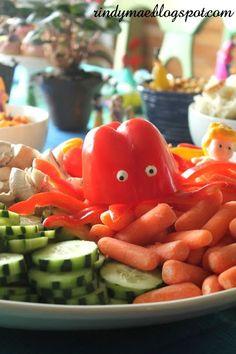 """Das Essen muss natürlich passend auf unsere """"Finde Dori""""-Kindergeburtstagsparty abgestimmt werden. Diese Idee gefällt uns besonders gut. Vielen Dank dafür Dein blog.balloonas.com  #balloonas #kindergeburtstag #findedori #dori #party #essen #food"""