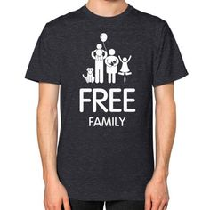 Free Family Men's T-shirt, American Apparel T-shirt, funny tee, custom t shirt, family t shirt (White icon)