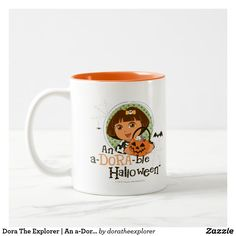 Dora The Explorer | An a-Dora-ble Halloween. Regalos, Gifts. Producto disponible en tienda Zazzle. Tazón, desayuno, té, café. Product available in Zazzle store. Bowl, breakfast, tea, coffee. #taza #mug