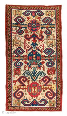 Fine Antique Oriental Rugs 6, Lot 226, Proto-Perepedil, Caucasus, 18th century, 8ft. 4in. x 4ft. 5in., Condition: Good, according to age, some reweaves and repairs, low pile, Warp: wool Weft: wool Pile:  ...
