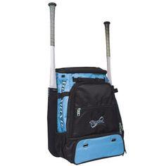 88a82b1a4d97 Diamond Reign BatPack Baseball Softball Backpack Bag - Columbia Blue