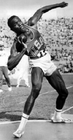 Rafer Johnson made his decathlon debut in 1954 and the next year he won the Pan American Games title and set the first of his three world decathlon records.He was favourite for '56 Olmpic title but placed 2nd then at the 1960 Olympic Games he became the first African American athlete to carry the U.S. flag in the Olympic procession, and he captured the decathlon gold medal.