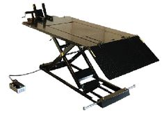 Weaver Lift's Popular model offers lifting height and comes complete with side extensions, front chopper extension, drop-out panel and vise. Motorcycle Lift Table, Motorcycle Clubs, David Mann Art, Side Extension, Classic Car Restoration, Open Market, Garage Shop, Ford Gt, Chopper