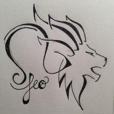 Výsledek obrázku pro leo zodiac tattoo