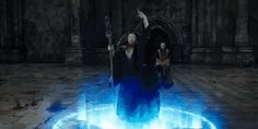 Witch that was summoning a ghost that could help with god of dead