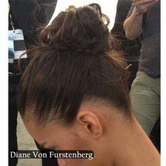 Hair how-to: Diane Von Furstenberg AW14 Russian Ballerina Bun by Orlando Pita for BioSilk #biosilknyfw