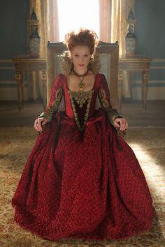 Queen Elizabeth of England,cousin to Queen Mary of Scots