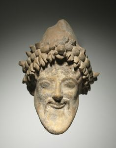 Head of Bearded Dionysus, 6th Century BC Italy, provincial Greece, 6th Century BC