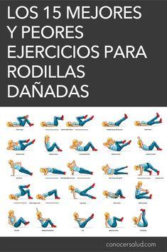 Los 15 mejores y peores ejercicios para rodillas dañadas #salud