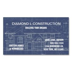 272 best construction business cards images on pinterest business construction business card reheart Choice Image