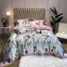 Tencel Silk 4Pcs Luxury Bedding ID-evo65566  Price: 202.99 € & FREE Shipping  #BeddingSet King Bed Sheets, Double Bed Sheets, Bed Sheet Sets, Queen Size Bed Sets, Queen Comforter Sets, Satin Bedding, Cotton Bedding Sets, Luxury Bed Sheets, Luxury Bedding