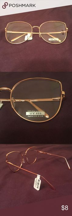 Torrid Clear Cat Eye Sunglasses We can see clearly now that we have clear sunglasses. The rose gold tone metal frames get sassy with cat eye lenses that'll see right through you.  100% UV Protection Man-made materials Brand new, never worn.  Bundle to save!! I always offer discounted shipping on bundles! torrid Accessories Sunglasses