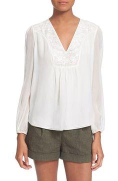 DIANE VON FURSTENBERG 'Maslyn' Embroidered Silk Top. #dianevonfurstenberg #cloth #