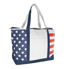 DALIX Striped Boat Bag Premium Cotton Canvas Tote Black Red Pink Navy Blue Purple StarsStripes * Continue to the product at the image link.