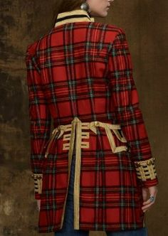 Ralph Lauren tartan officer's coat. This is worthy of a painting.