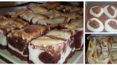 "Dvojfarebné rezy ""Kravička"" Sweet Desserts, Easy Desserts, Sweet Recipes, Dessert Recipes, Czech Recipes, Cake Bars, Sweet Cakes, Pavlova, Something Sweet"