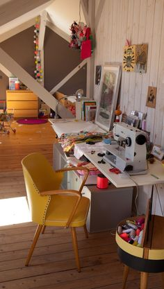 Workspace and kids play area under the roof