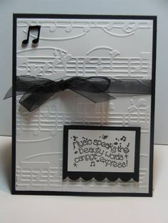 Horn by NellieKC - Cards and Paper Crafts at Splitcoaststampers Suitable for males. Handmade Birthday Cards, Happy Birthday Cards, Greeting Cards Handmade, Musical Cards, Cricut Cards, Embossed Cards, Card Making Inspiration, Paper Cards, Creative Cards