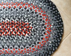 New Upcycled Handmade Braided Wool Rug By Patternsgoneby On Etsy 155 00