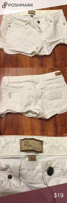 Paige Premium Denim White Shorts Size 28 Paige cut off shorts, 5 pockets, size 28. Paige Jeans Shorts Jean Shorts