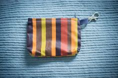 Small French Oilcloth Coin Purse with swivel by FourLittleTrees, £3.50