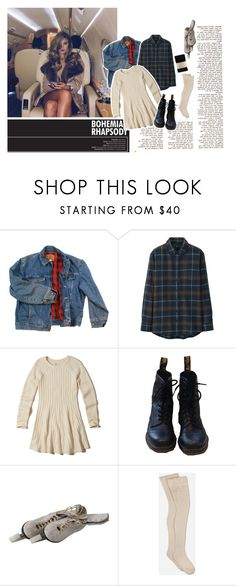 """J E S S"" by ps-ychedelic ❤ liked on Polyvore featuring beauty, Carmella, Wrangler, Uniqlo, Hollister Co., Dr. Martens, White Ice, UGG and Falke"