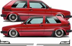 VW Golf retro side stripes decal Sticker Syncro any colour Gti Volkswagen Golf Mk2, Vw T5, Gti Vw, Vw Camper, Citroen Ds, Pontiac Firebird, Fiat 500, Golf Gti Mk2, My Dream Car