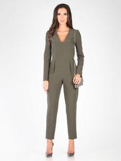 Ženski Kombinezon CARLA BY ROZARANCIO #overall #fashion #oil_green #long_sleeve #pocket