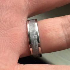 slissa added a photo of their purchase Meteorite Wedding Band