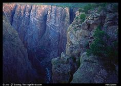 painted wall from Chasm view, North rim. Black Canyon of the Gunnison National Park
