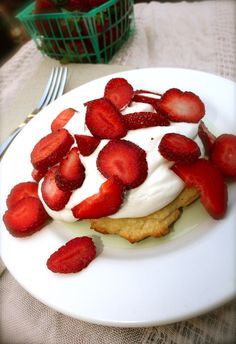 Strawberry Lavender Shortcake. This recipe is gluten-free and vegan.