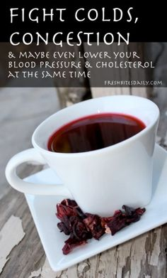 This tea may help fight a cold and may even lower your blood pressure and cholesterol at the same time….