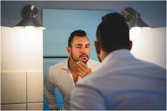 #Groom #mirror #hairstyle #beard Marlon en Lourette se troue | Mooi Troues