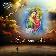 Good Night Sister, Blessed Mother, Madonna, Sweet Dreams, Good Morning, Catholic, Faith, Animation, Biscotti