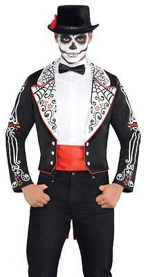 Adult mexican day of the dead #tailcoat mens #halloween #fancy dress costume outf,  View more on the LINK: 	http://www.zeppy.io/product/gb/2/191976516796/