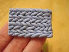 Creator's Joy: How to knit with fimo yarn! A DIY polymer clay pattern tutorial