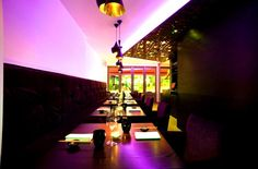 Purple Dokoro is the one of the dining areas, located on ground floor.   With long purple sofa and dark furnishing, the area is most suitable for 1-4 people bookings.