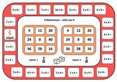 game board table of spelbord tafel van game board table of - Teaching Math, Maths, Table Games, Bingo, Cute Stickers, Calculator, Board Games, Periodic Table, Boards