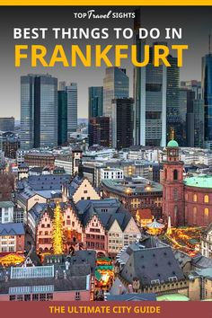 Are you coming to Frankfurt? Most people only see the airport and then leave to go elsewhere. That's a shame because Frankfurt has a lot more to offer than you might think! As locals, we have put together this list about the best things to do in Frankfurt, that will help you plan your trip! Spain Travel, Travel Europe, Germany Travel, Travel Guides, Travel Tips, Backpack Through Europe, Travel Sights, Argentina Travel, Cities In Europe