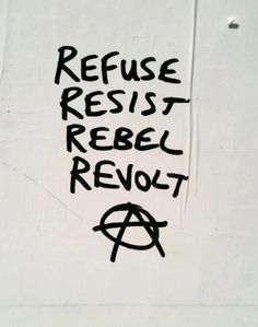 Refuse resist rebel revolt | Anonymous ART of Revolution