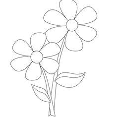 Dibujos de Flores para Colorear, parte 1