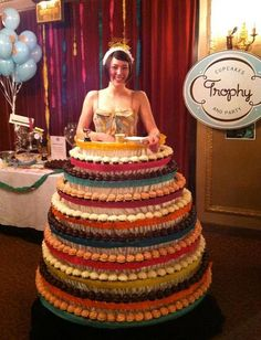 Adorable cupcake dress by Trophy Cupcakes in Seattle! Who wouldn't want to wear this to a party? http://cupcakestakethecake.blogspot.com/2012/04/want-to-make-best-dressed-and-most.html