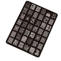 Koly® DIY Nail Stamping Printing Plate Manicure Nail Art Decor Image Stamps Plate: Amazon.co.uk: Beauty