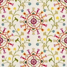 Kravet Couture embroidered fabric - 33073 - 1012 Brights. $219.95 This embroidered fabric and many more fabrics, trims, and wallpapers are available for the guaranteed lowest price online at Designerfabricsusa.com